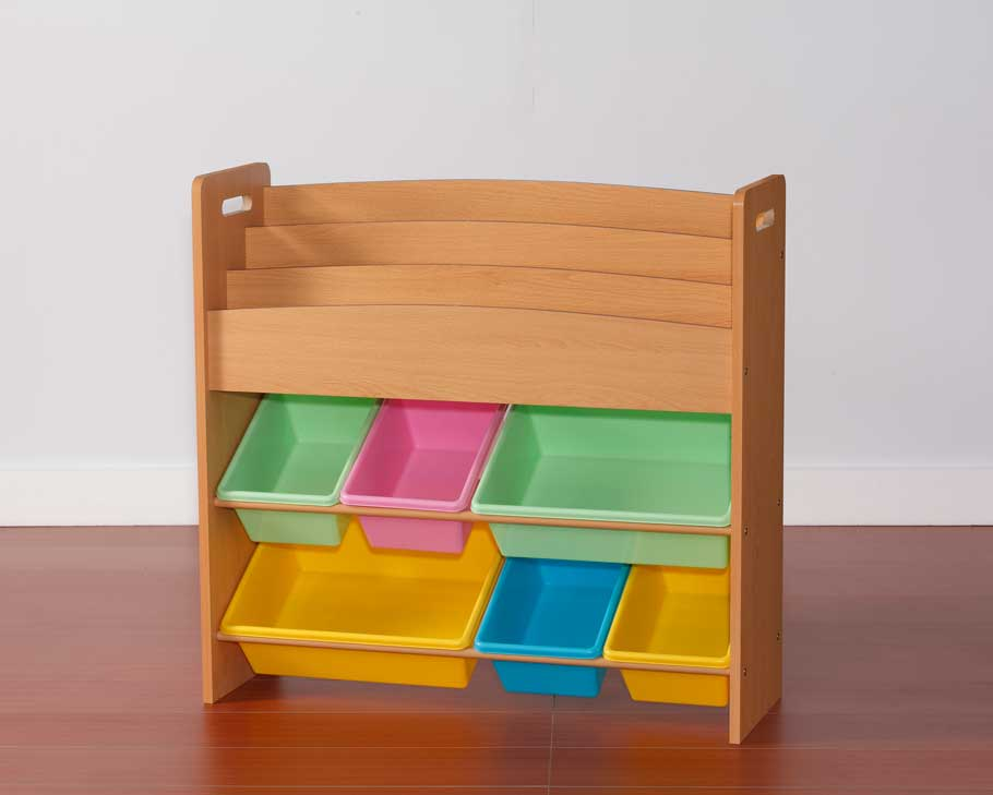 Toy organizer book rack eagle vallage for Toy and book storage